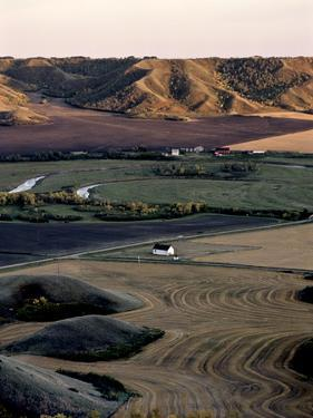 A High Angle View of the Qu'Appelle Valley,South Central Saskatchewan by Kenneth Ginn