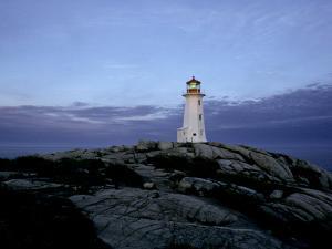 A Light House Near Peggy's Cove in Nova Scotia by Kenneth Ginn