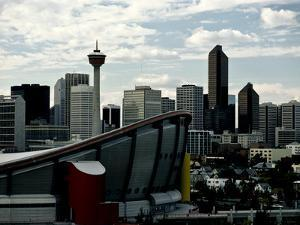 A View of Calgary's Skyline with the Saddledome in the Foreground by Kenneth Ginn
