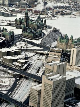 An Aerial View of Central Ottawa Including Parliament Hill and Canal by Kenneth Ginn