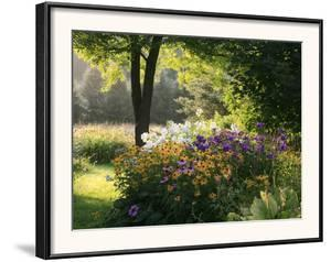 Summer Flower Adourn a Farm Garden by Kenneth Ginn