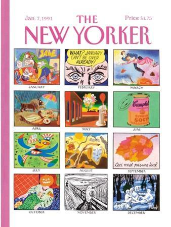 The New Yorker Cover - January 7, 1991 by Kenneth Mahood