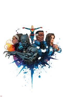 Ultimates No.3 Cover, Featuring Monica Rambeau, Black Panther, Captain Marvel, Blue Marvel and More by Kenneth Rocafort