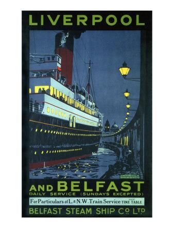 Liverpool and Belfast