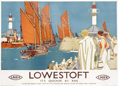 Lowestoft Sailing Rail by Kenneth Shoesmith