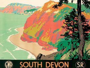 Seaton, Devon, 1930 by Kenneth Shoesmith