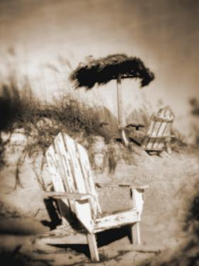 Blurred Image of Chair on Beach, Amelia Island, FL by Kent Dufault