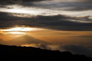 Sunset as Seen from the Upper Reaches of Mount Kilimanjaro (19,341'), Tanzania, Africa by Kent Harvey