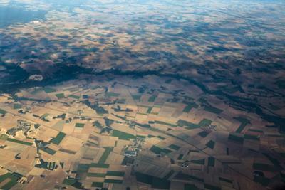 Fields and Villages of Rural France's Ile-De-France Region