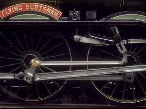 """Wheels and Rods of London and North Eastern Railway """"Flying Scotsman"""" by Kent Kobersteen"""