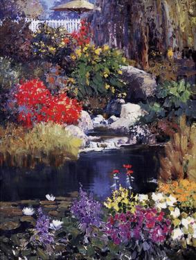Backyard Pond by Kent Wallis