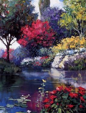 Garden Over The Pond by Kent Wallis