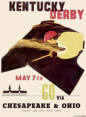 Kentucky Derby Horse Racing Poster