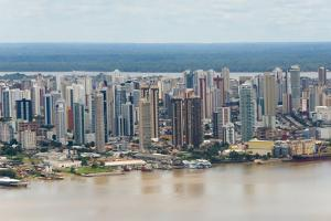 Aerial View of Belem on Amazon River, Para State, Brazil by Keren Su