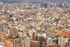 Aerial view of cityscape, Dhaka, Bangladesh by Keren Su