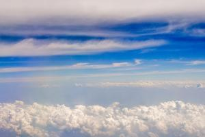 Aerial view of clouds, China by Keren Su