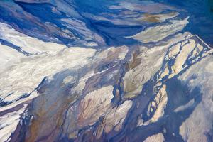 Aerial view of highland lakes on Atacama Desert, Chile by Keren Su