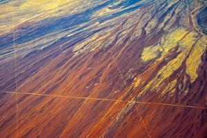 Aerial view of land pattern on Atacama Desert, Chile. by Keren Su