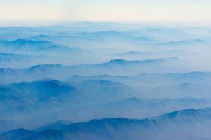 Aerial view of mountain, South Asia by Keren Su