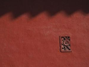Brick Carving of Flowers on Forbidden City Wall by Keren Su