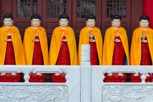 Buddhist statue in Huaning Temple. Yining (Ghulja), Xinjiang Province, China. by Keren Su