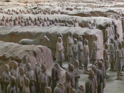 China, Shaanxi Province, Xian, Terra Cotta Warriors in Emperor Qinshihuangdi's Tomb