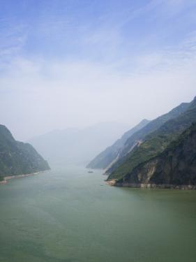 China, Yangtze River, Three Gorges, Landscape of Xiling Gorge by Keren Su