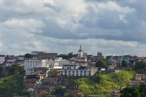 Cityscape Along the Ocean, Salvador, Bahia State, Brazil by Keren Su