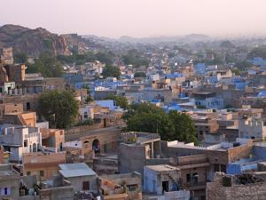 Cityscape of Blue Houses in the Blue City, Jodphur, Rajasthan, India by Keren Su