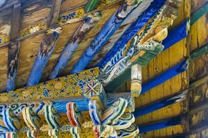 Close-up of temple structure in the grotto, Mati Temple Scenic Area. Zhangye, Gansu Province, China by Keren Su