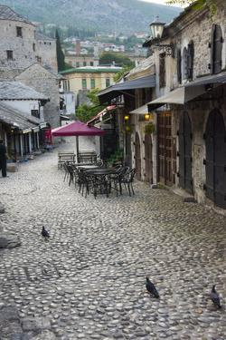 Cobblestone street in the old town, Mostar, Bosnia and Herzegovina by Keren Su