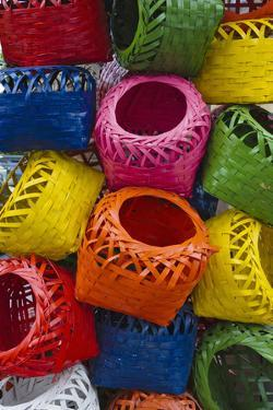 Colorful Baskets, Manila, Philippines by Keren Su