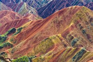 Colorful mountains in Zhangye National Geopark, Zhangye, Gansu Province, China by Keren Su