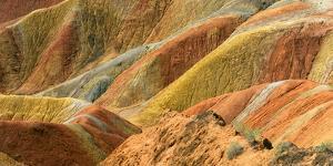 Colorful mountains in Zhangye National Geopark. Zhangye, Gansu Province, China. by Keren Su
