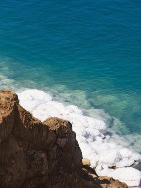 Deposit of Salt and Gypsum by the Cliff in Dead Sea, Jordan by Keren Su
