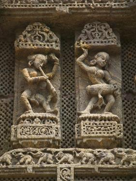 Details of Bas Relief of Orissa Dancers at Sun Temple, Konark, Orissa, India by Keren Su