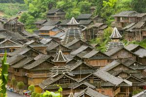 Dong village in the mountain, Huanggang, Zhaoxing, Guizhou Province, China by Keren Su