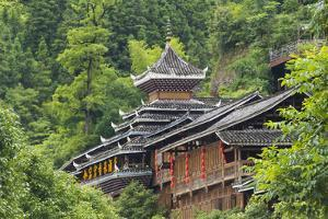 Dong village in the mountain, Zhaoxing, Guizhou Province, China. by Keren Su
