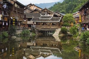 Dong village, Zhaoxing, Guizhou Province, China by Keren Su