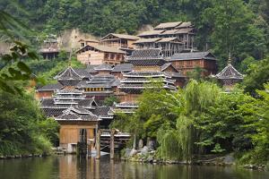 Dong village, Zhaoxing, Guizhou Province, China. by Keren Su