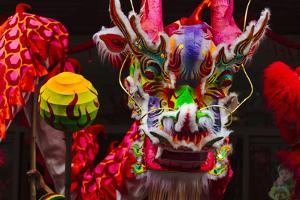 Dragon Dance Celebrating Chinese New Year in China Town, Manila, Philippines by Keren Su
