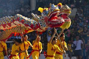 Dragon Dance Performance Celebrating Chinese New Year, City of Iloilo, Philippines by Keren Su