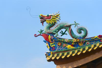 Dragon sculpture on the roof of South Putuo Temple, Xiamen, Fujian Province, China by Keren Su