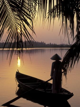 Evening View on the Mekong River, Mekong Delta, Vietnam by Keren Su