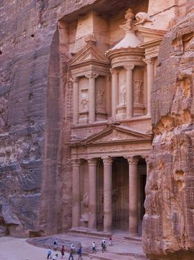 Facade of Treasury (Al Khazneh), Petra, Jordan by Keren Su