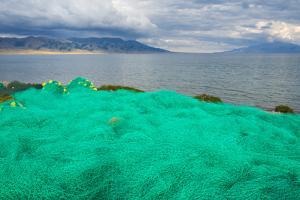 Fish net on the shore of Sayram Lake, Yining (Ghulja), Xinjiang Province, China by Keren Su