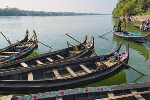 Fishing boats on Kaptai Lake, Rangamati, Chittagong Division, Bangladesh by Keren Su