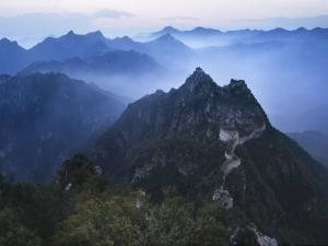 Great Wall in Early Morning Mist, China by Keren Su