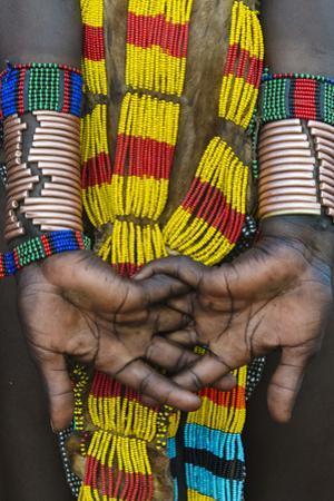 Hamar tribe, woman in traditional clothing, Hamar Village, South Omo, Ethiopia by Keren Su