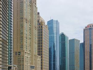 High Rises in Lujiazui Financial District, Pudong, Shanghai, China by Keren Su